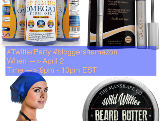 RSVP And Join Us for #TwitterParty April 2, 9pm EST #bloggers4amazon