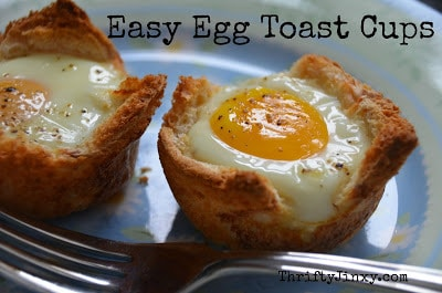 easy egg toast