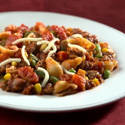 Pasta hearty skillet supper recipe