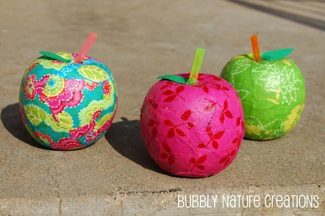 fabric covered apples