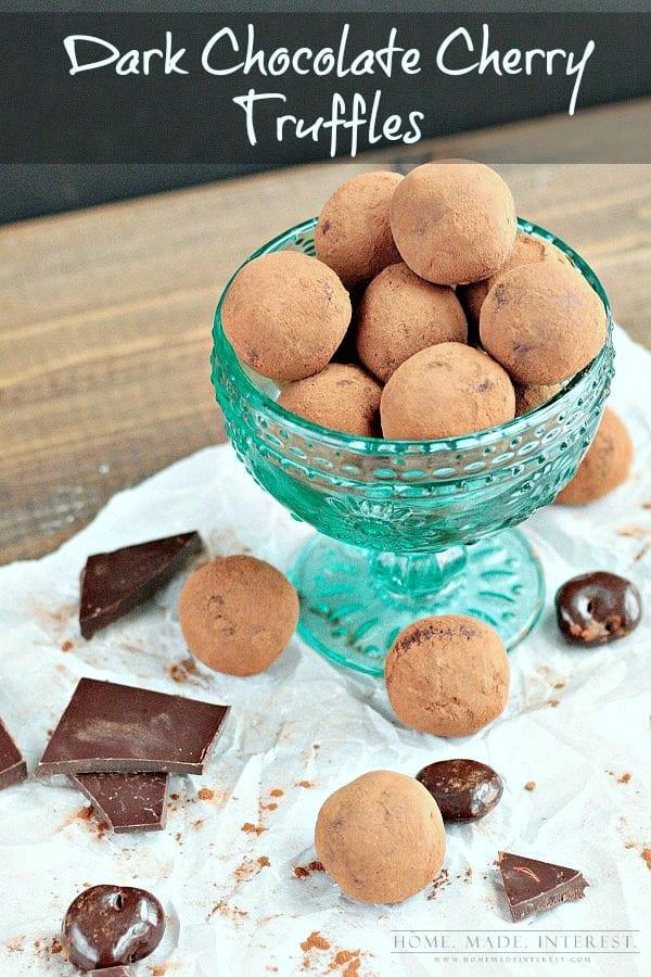 dark chocolate cherry truffles