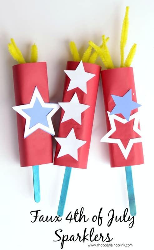 faux paper sparklers
