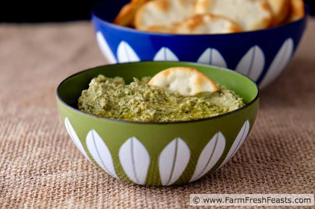 green garlic hummus