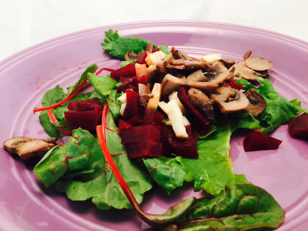 Beets Greens Salad recipe