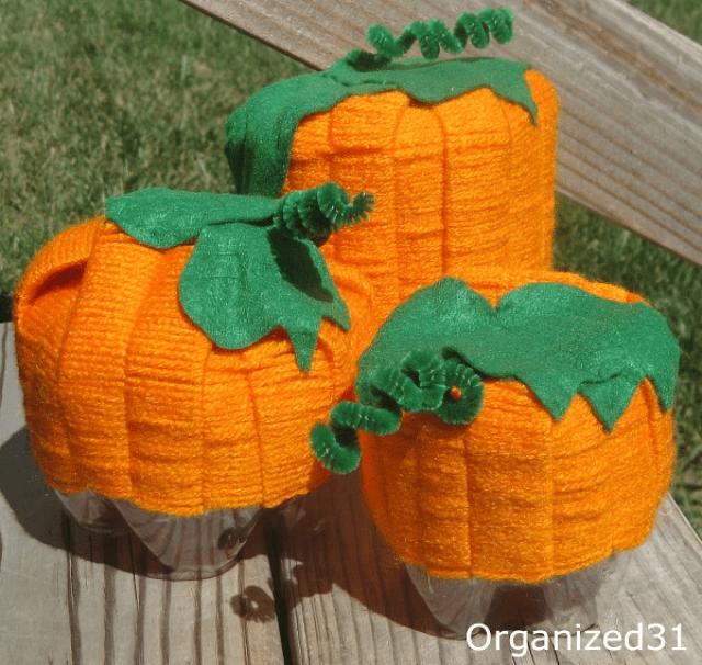 soda bottle pumpkins