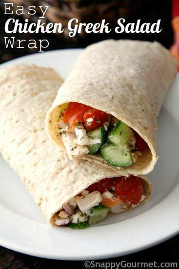 easy greek chicken wrap