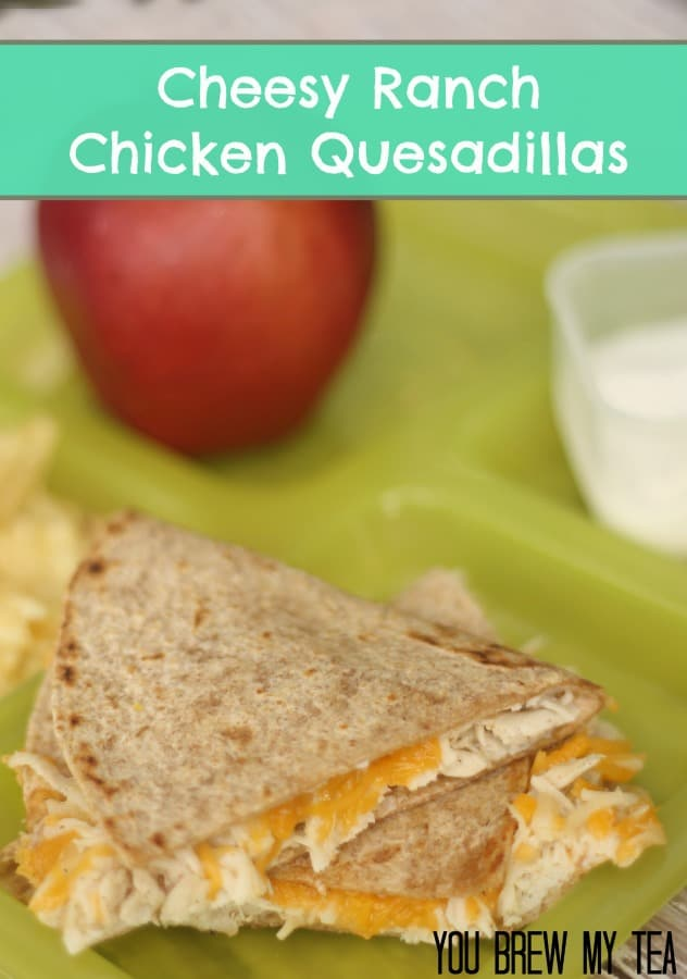 cheesy chicken quesadilla