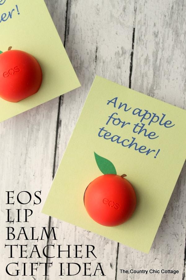 apple lip balm card