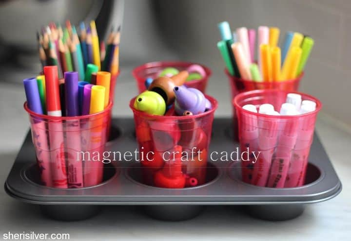 school supplies craft caddy