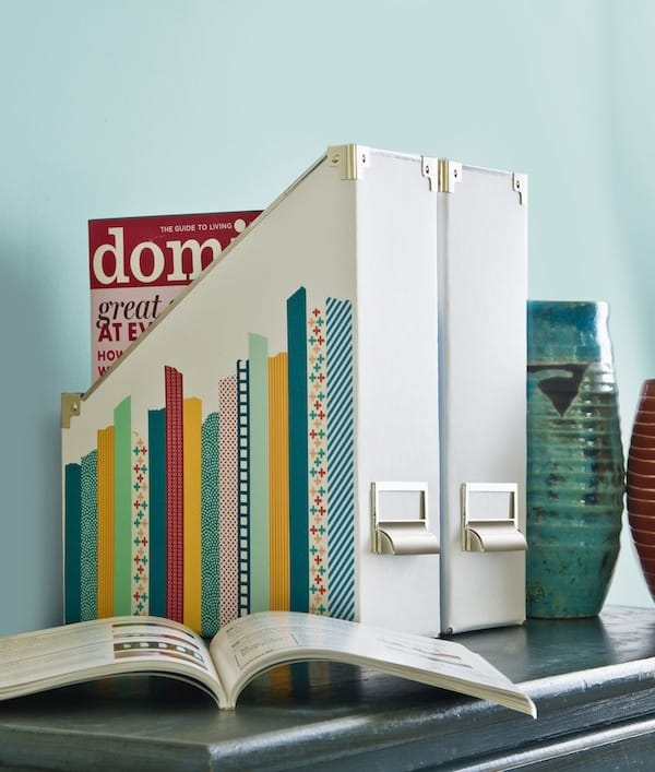 DIY Decorated Magazine Holder