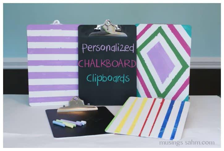 personalized chalkboard clipboards