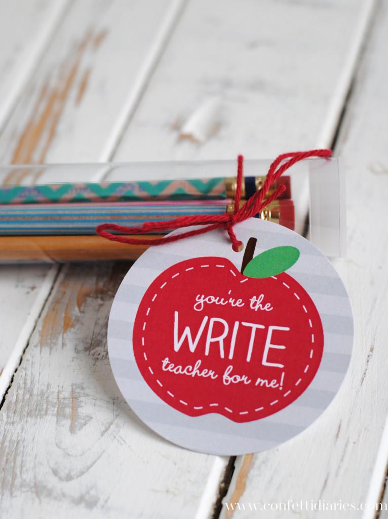 washi pencil gift