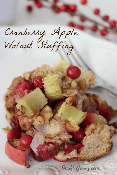 cranbery apple walnut stuffing
