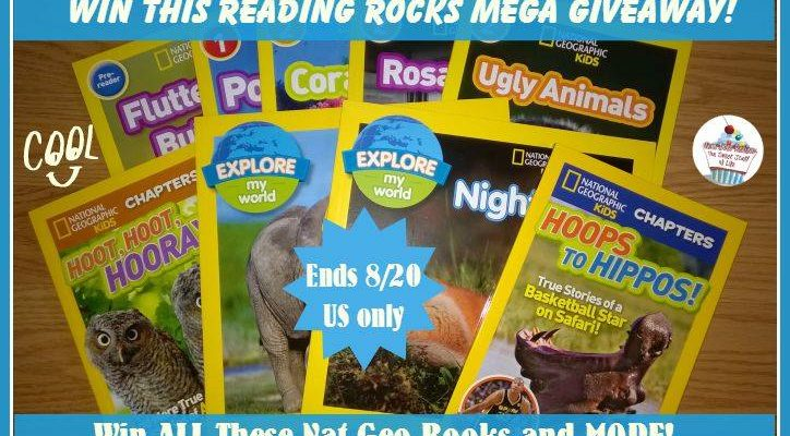 Celebrate Reading With The Reading Rocks Mega Giveaway. Win National Geographic Explore My World Series!