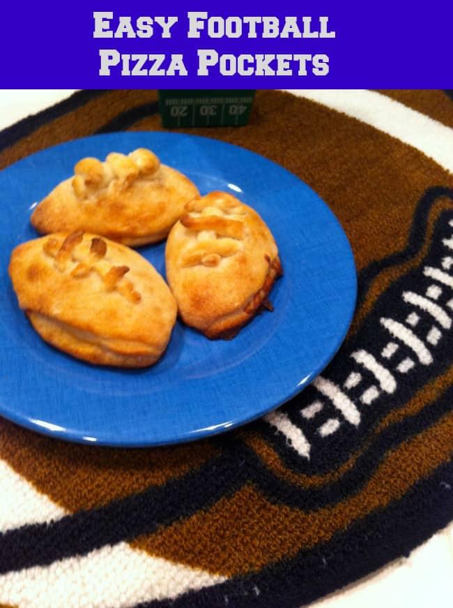 football shaped pizza pockets