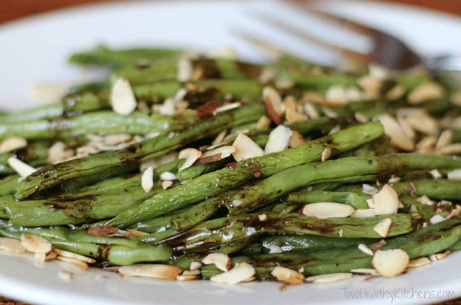 roasted green beans with browned butter