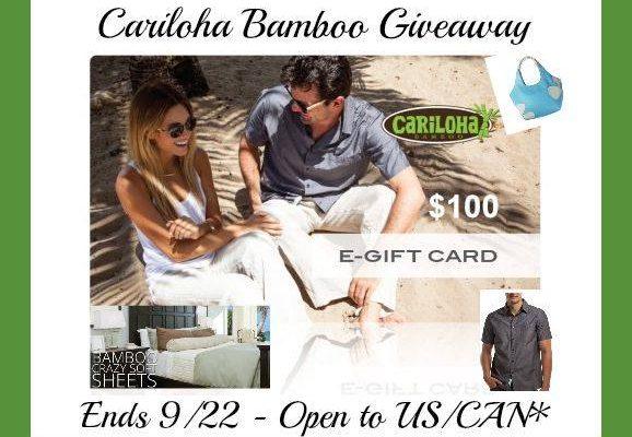 $100 Cariloha eGiftcard Giveaway