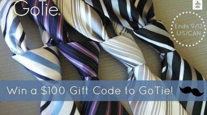 $100 gift code to goTie Giveaway