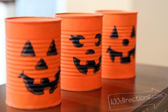 soup can pumpkins