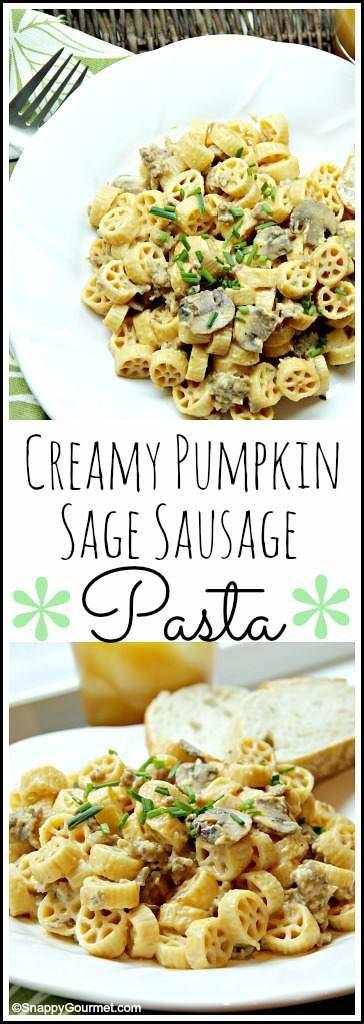 pumpkin sage sausage pasta