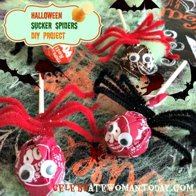 Halloween-craft-Sucker-Spiders