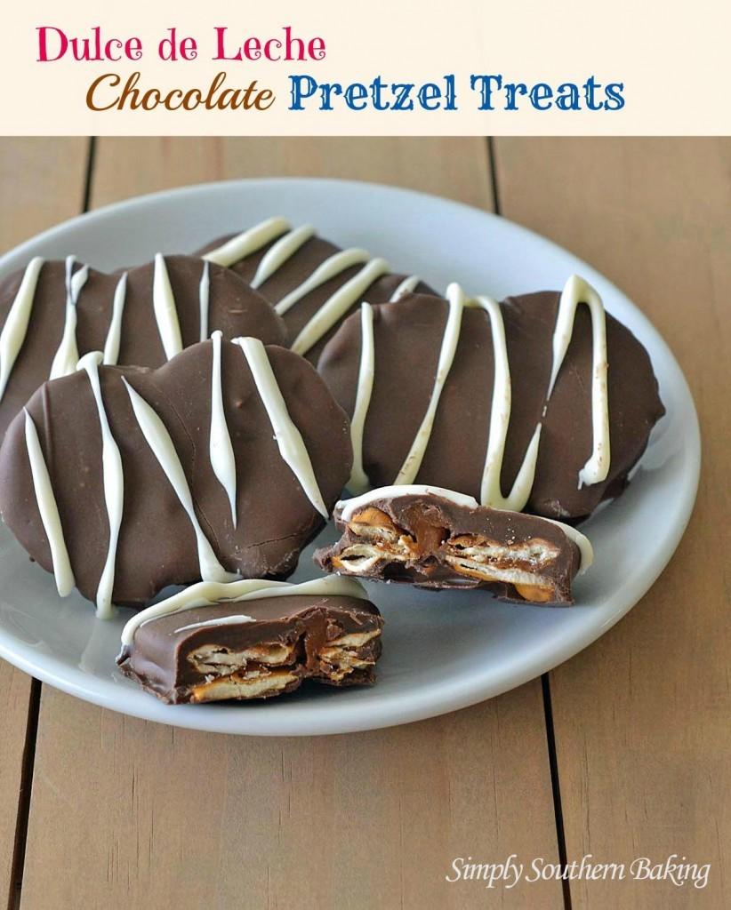 dulce de leche chocolate pretzel treats