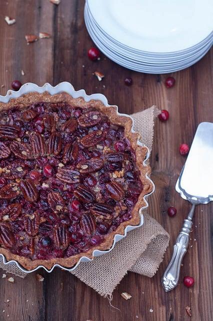 maple cranberry pecan pies