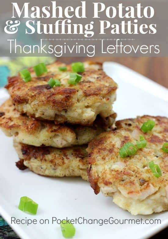 mashed potatoes and stuffing patties