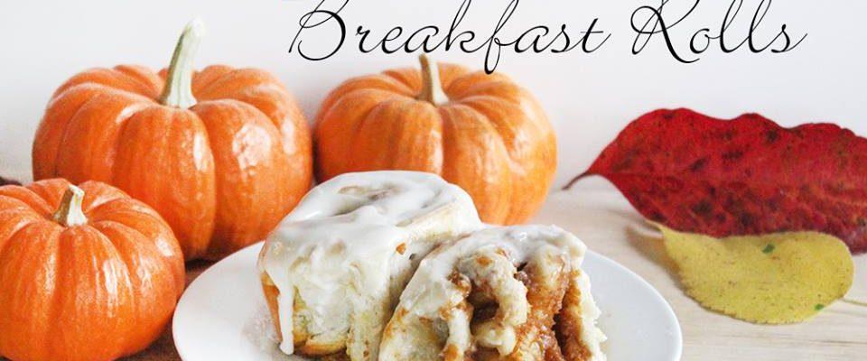 Pumpkin Pie Breakfast Rolls – #12DaysOf Thanksgiving