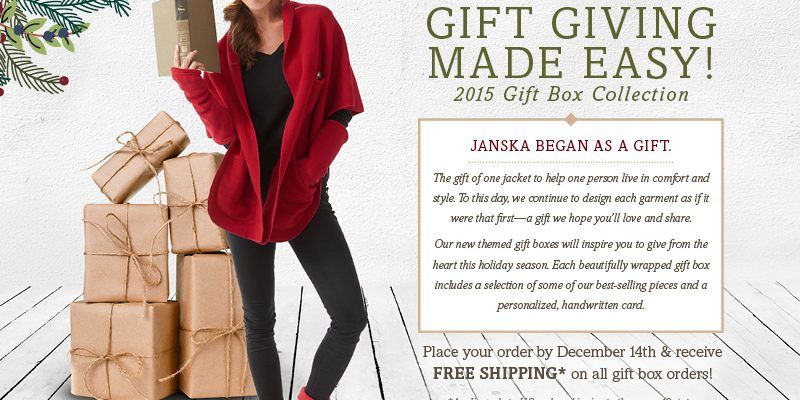 0bb8135a74 Give A Gift of Comfort And Style  MyWOWgift This Holiday Season Is JANSKA