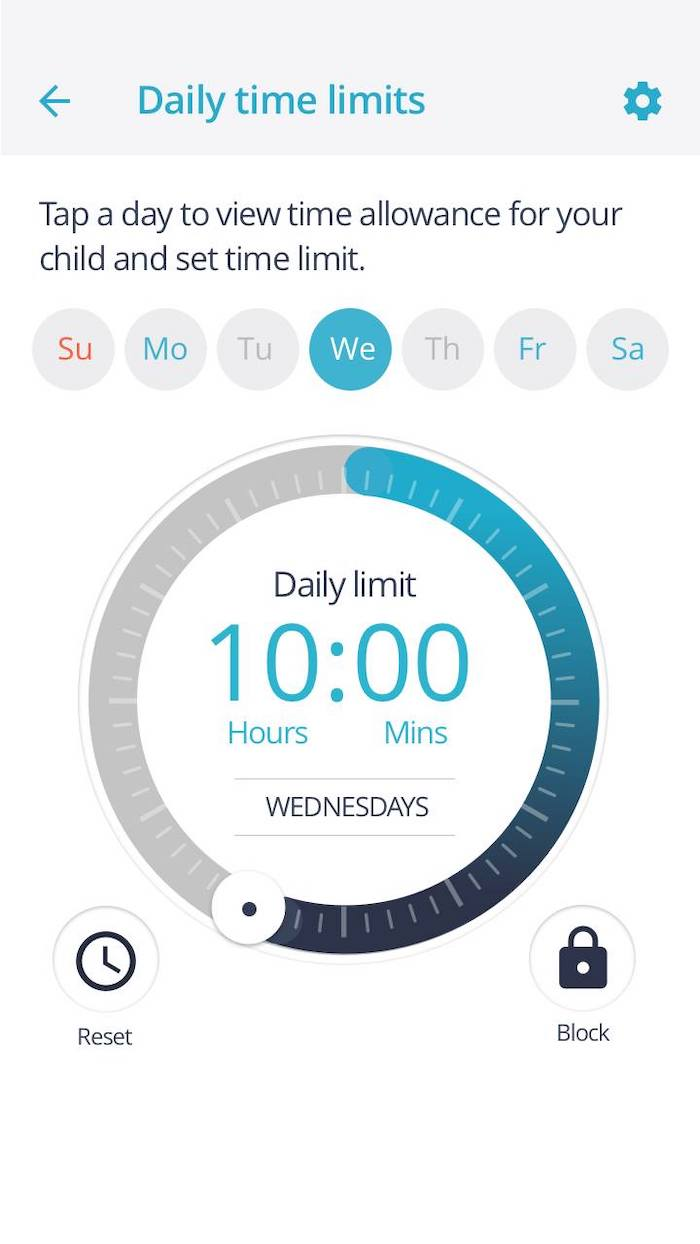 Parental controls and time allowance are possible with Qustodio