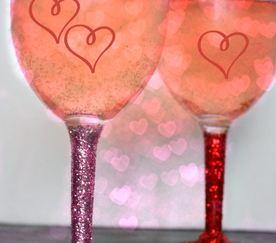 DIY Glitter Stem Wine Glasses Craft for Any Occasion