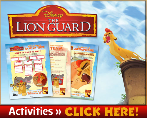 Disney Lion Guard Activity Sheets And Games for Kids
