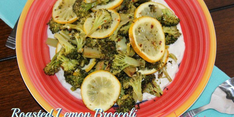 Roasted Lemon Broccoli with Tahini Yogurt Sauce Recipe