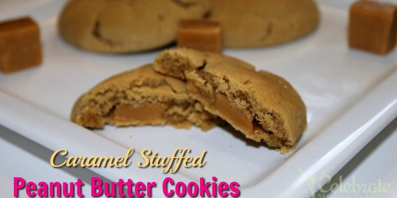 Caramel Stuffed Peanut Butter Cookies Recipe