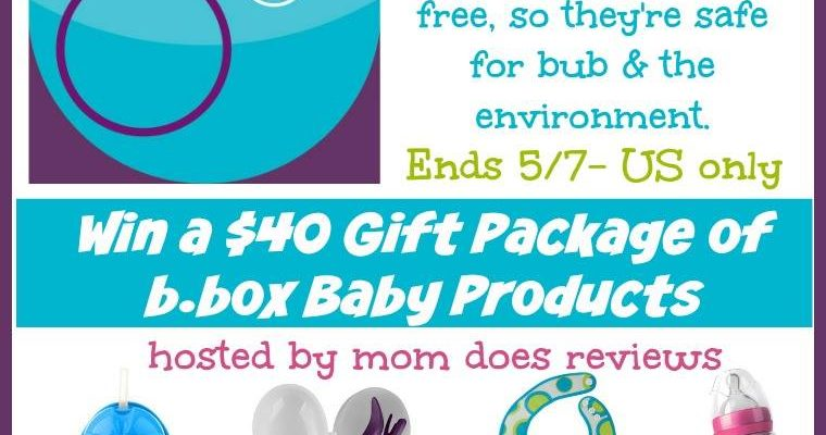 Enter To Win A $40 Gift Package of b.box Baby Products!