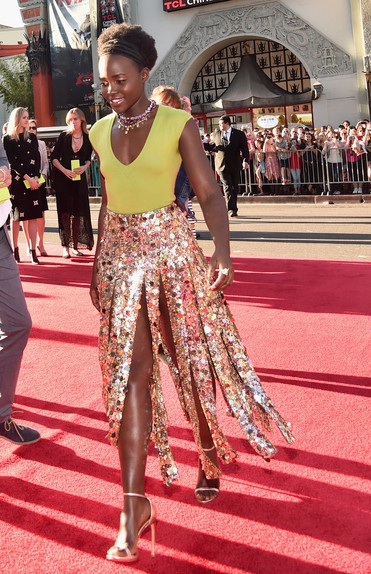 "Actress Lupita Nyong'o attends The World Premiere of Disney's ""THE JUNGLE BOOK"" at the El Capitan Theatre on April 4, 2016 in Hollywood, California. (Photo by Alberto E. Rodriguez/Getty Images for Disney)"
