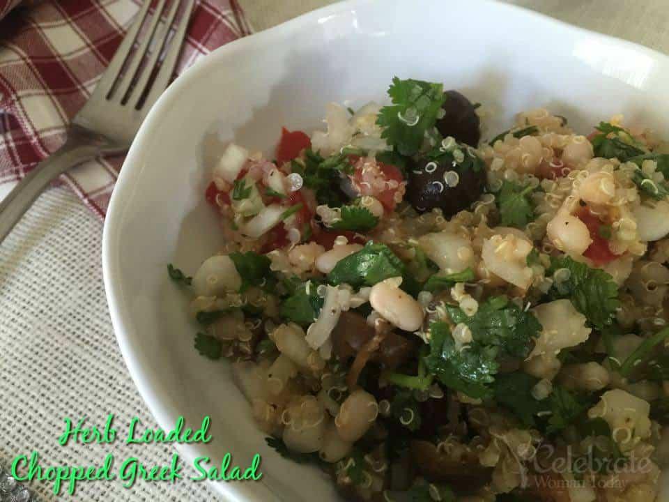 Herb Loaded Chopped Greek Salad