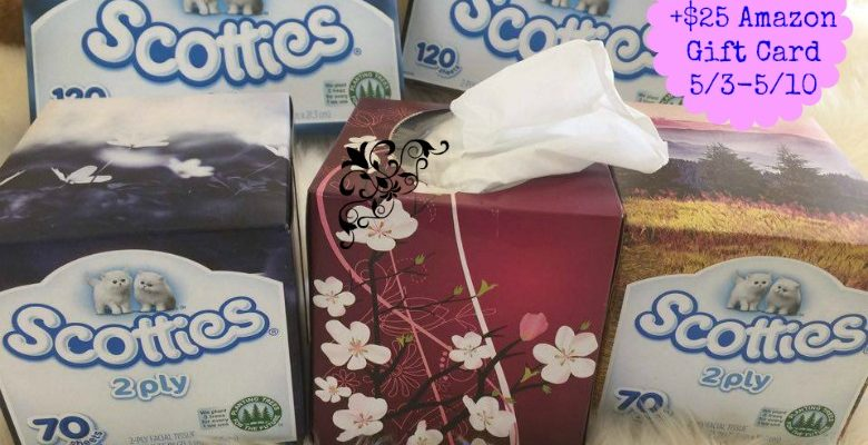 Win Monthly Supply of Scotties Facial Tissue + $25 Amazon Gift Card