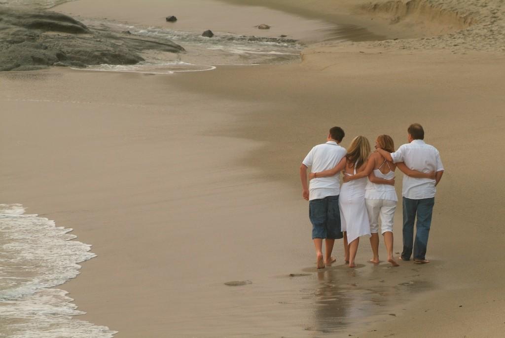 family, beach vacation