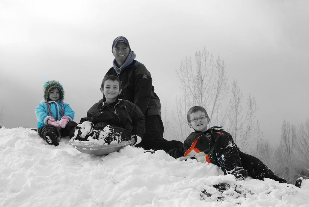 family, snow vacation