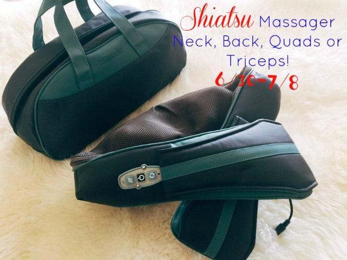 shiatsu massager, neck massager, back massager, truMedic massager