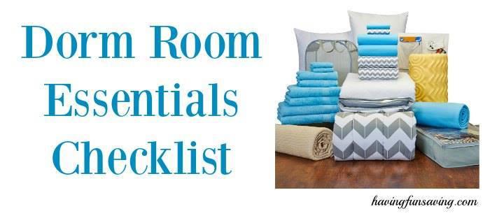 College Dorm Essentials Checklist to Organize your Room