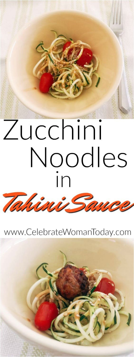 Zucchini Noodles with Tahini Sauce recipe