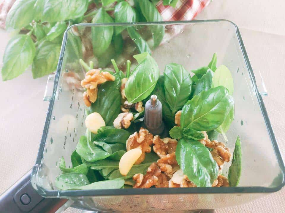 vegan Basil Spinach Peso recipe