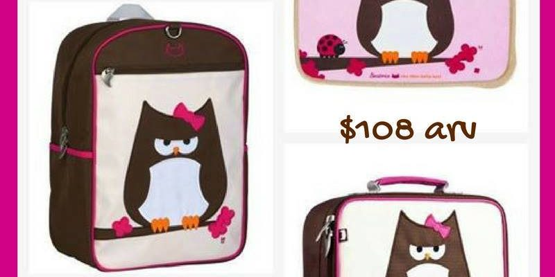 Win Back To School Beatrix NY Backpack, Lunchbox and Bento Box Set