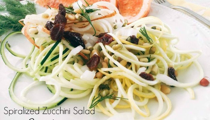 Fresh And Convenient The Spiralized Zucchini Salad With Grapefruit Vinaigrette