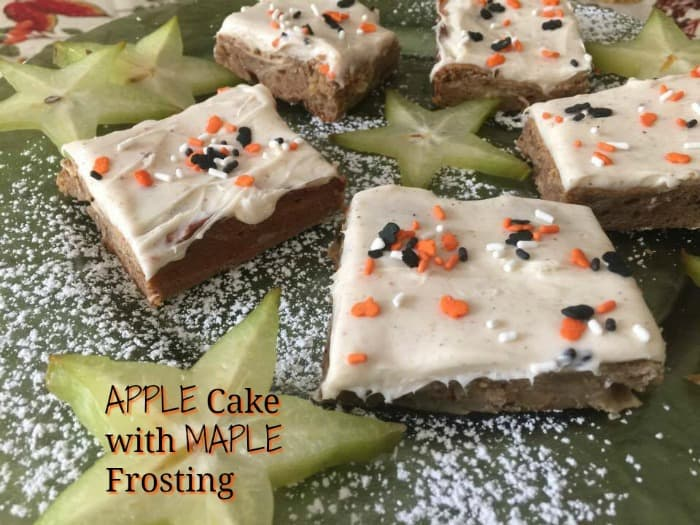 apple cake, maple frosting recipe