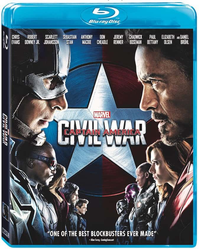 captain america civil war, bluray