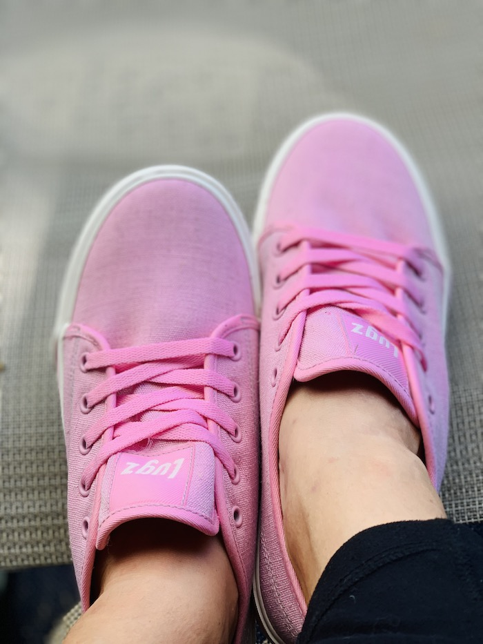 Lugz pink trax oxford sneakers for women
